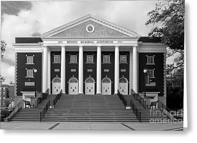 Asbury University Hughes Memorial Auditorium Greeting Card by University Icons