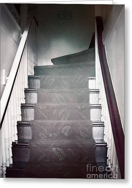 Wooden Stairs Greeting Cards - Ascend Greeting Card by Margie Hurwich