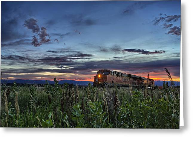 Caboose Photographs Greeting Cards - Ascend Greeting Card by Thomas Zimmerman