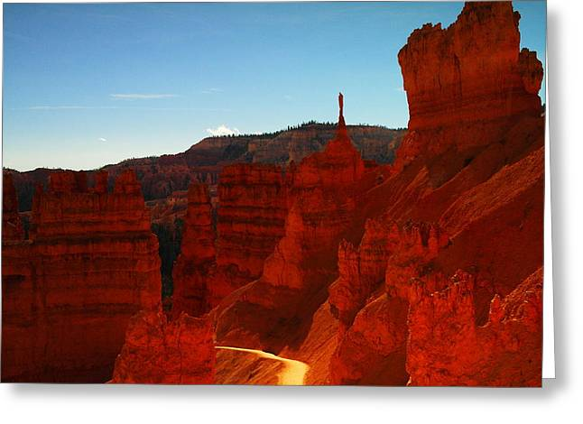 Southern Utah Greeting Cards - Ascending Out Of Bryce Greeting Card by Jeff  Swan