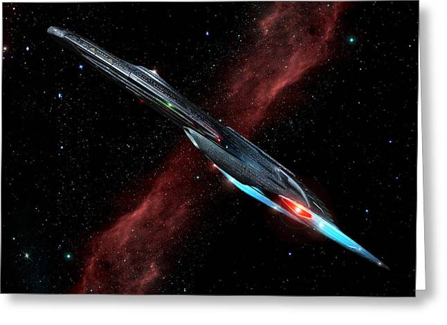 Enterprise Digital Art Greeting Cards - Ascension Class Greeting Card by Joseph Soiza