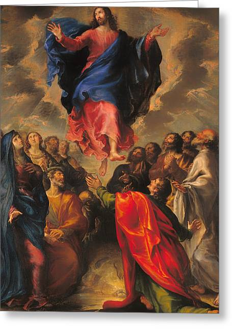 Faithful Paintings Greeting Cards - Ascension Greeting Card by Francisco Camilo