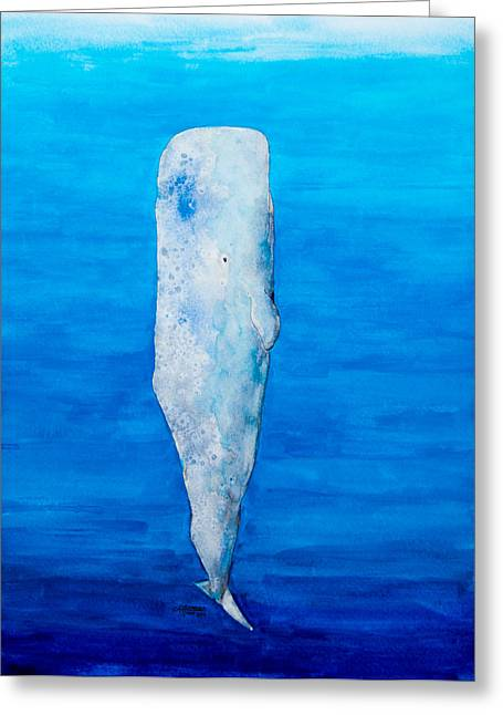Moby Dick Greeting Cards - Ascent Greeting Card by Alexandra Nicole Newton