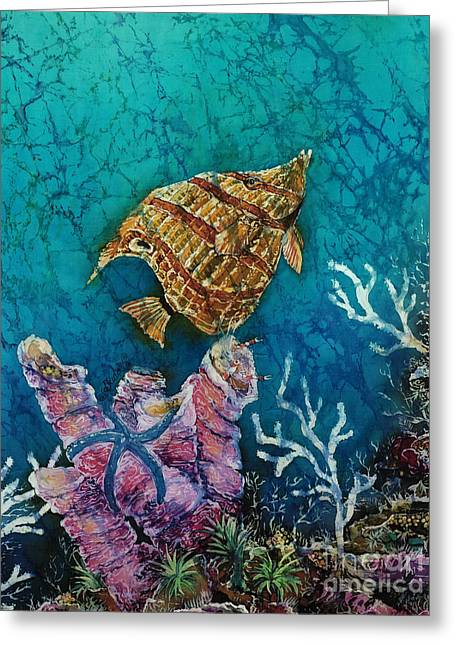 Sea Life Tapestries - Textiles Greeting Cards - Ascent  Greeting Card by Sue Duda