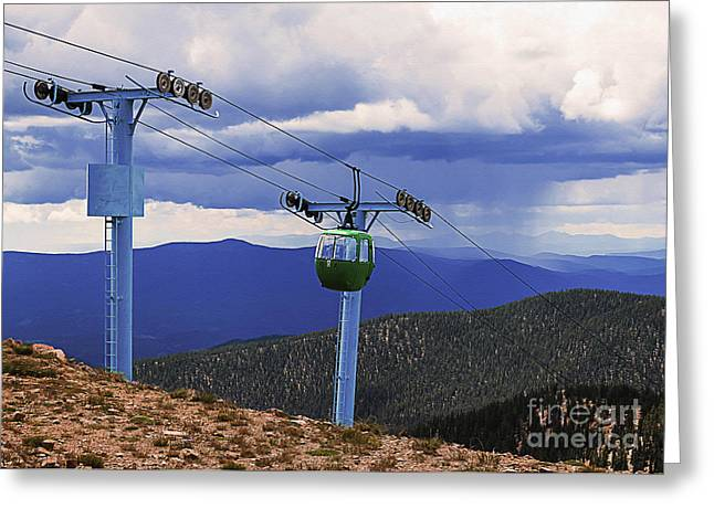 Ski Art Greeting Cards - Ascent to Alpine Greeting Card by Janice Rae Pariza