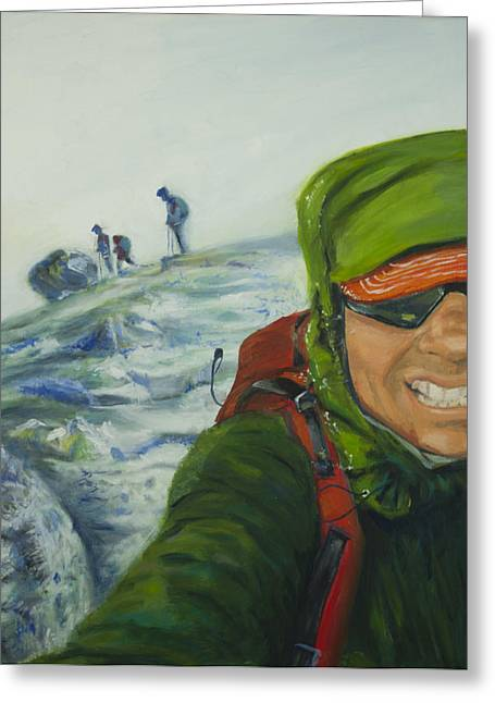 Gi Paintings Greeting Cards - Ascent to Mt. St. Helens Greeting Card by Jv