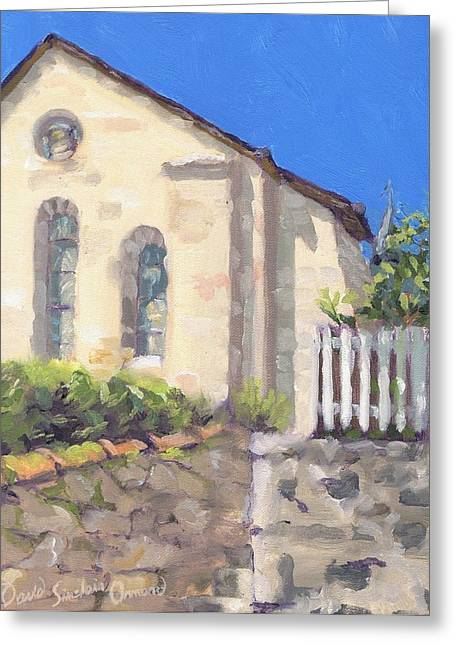 Paysage A L Greeting Cards - Ascent to the church - Ascension a leglise Greeting Card by David Ormond