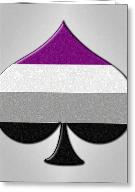 Asexual Greeting Cards - Asexual Ace Symbol Greeting Card by Tavia Starfire