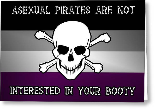 Asexual Digital Art Greeting Cards - Asexual Pirates Greeting Card by Tavia Starfire
