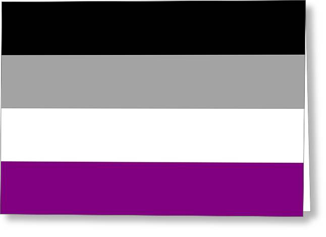 Asexual Digital Art Greeting Cards - Asexual Pride Flag Greeting Card by Tigerlynx Art