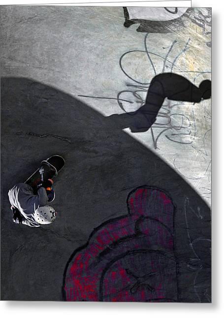 Ashbridges Bay Skate Park Greeting Card by Brian Carson
