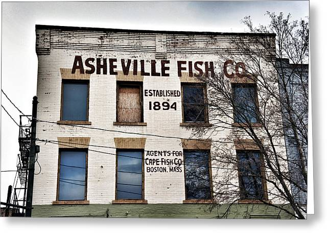 Asheville Fish Co Greeting Card by Brandon Addis