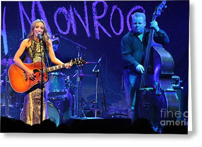 Live Art Greeting Cards - Ashley Monroe - 7035 Greeting Card by Gary Gingrich Galleries