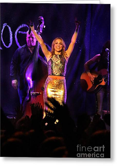 Live Art Greeting Cards - Ashley Monroe - 7388 Greeting Card by Gary Gingrich Galleries