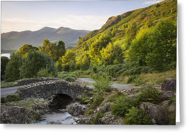 Mountain Road Greeting Cards - Ashness Bridge Greeting Card by Brian Jannsen