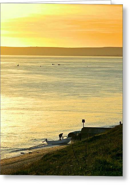 Sea View Greeting Cards - Ashore Greeting Card by Sharon Lisa Clarke