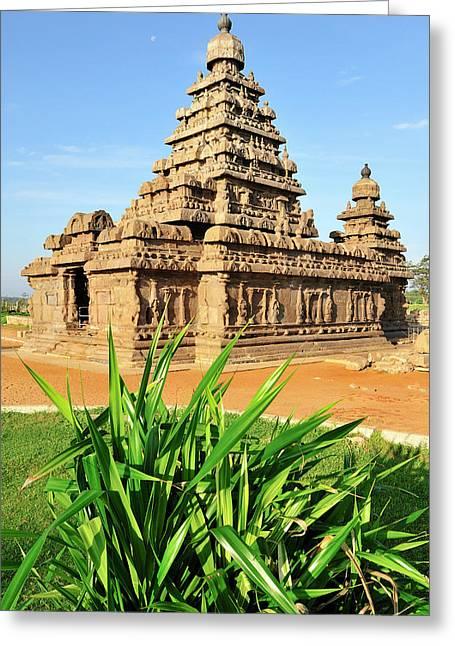 Asia, India, Tamil Nadu, Mahabalipuram Greeting Card by Steve Roxbury