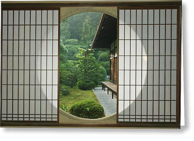 Asia, Japan, Kyoto, Sesshudera, Tea Greeting Card by Rob Tilley