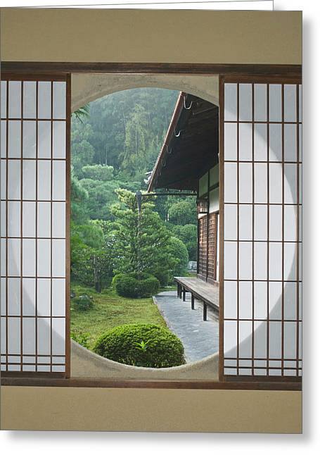 Asia, Japan, Kyoto, Sesshuji Temple Greeting Card by Rob Tilley