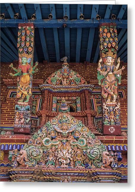 Asia, Nepal, Kathmandu Valley, Patan Greeting Card by John and Lisa Merrill
