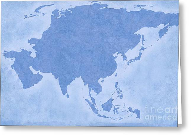 Geographic Location Greeting Cards - Asia Greeting Card by Tina M Wenger
