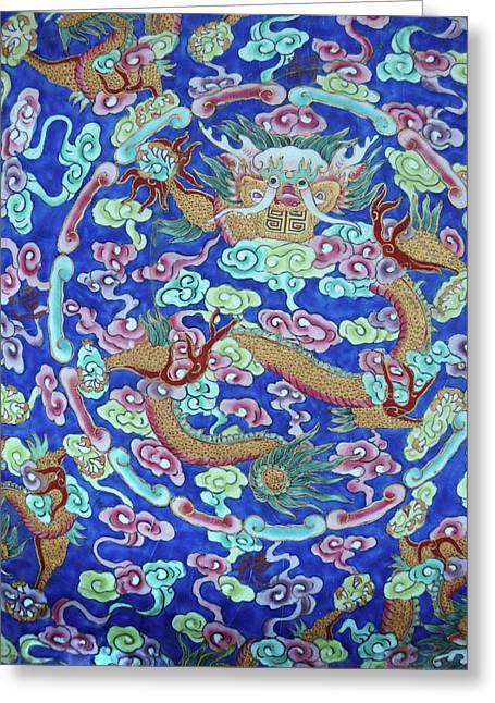 Asia, Vietnam Naga Ceramic Plate Greeting Card by Kevin Oke