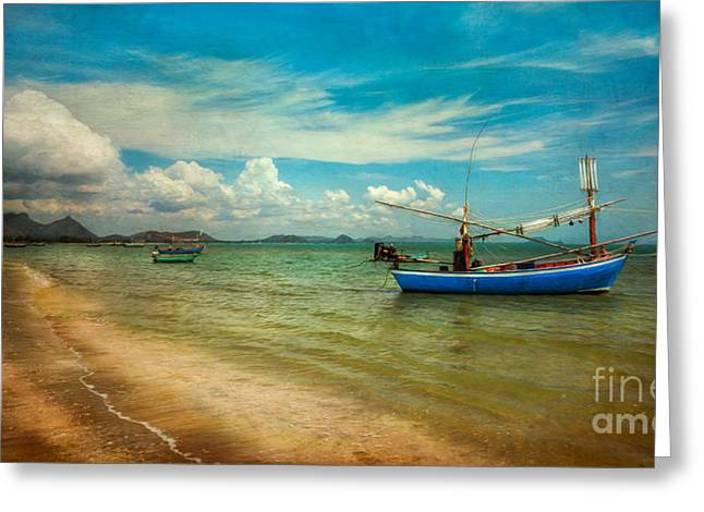 Asian Beach Greeting Card by Adrian Evans