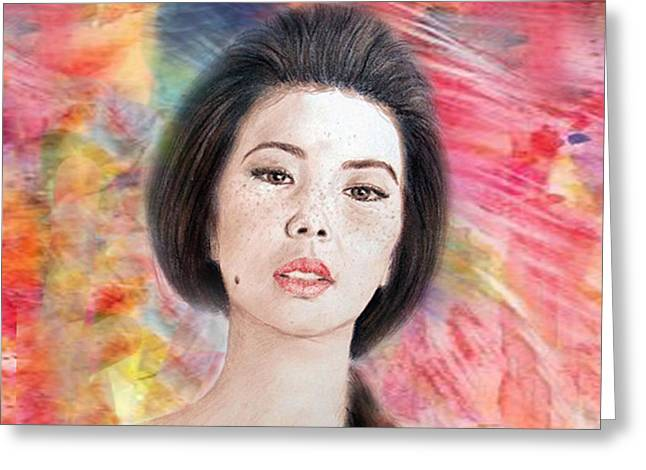 Beauty Mark Greeting Cards - Asian Beauty III Greeting Card by Jim Fitzpatrick