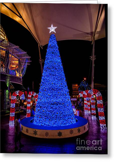 Hua Hin Greeting Cards - Asian Christmas Display Greeting Card by Adrian Evans