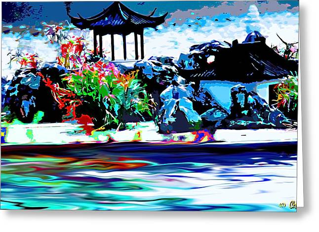 China Beach Greeting Cards - Asian Waterside Living Greeting Card by CHAZ Daugherty