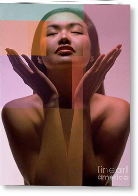 Human Spirit Greeting Cards - Asian Woman Greeting Card by Dennis Potokar