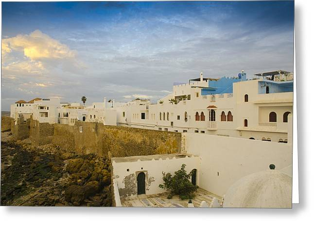 African Heritage Greeting Cards - Asilahs ramparts Morocco Greeting Card by Martin Turzak