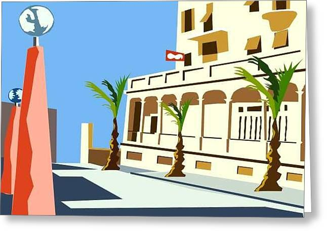 Azur Digital Greeting Cards - Asile a Beauxsoleil Greeting Card by Andrea  Granchi