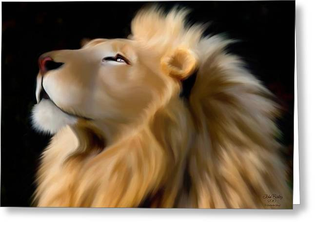 Aslan Greeting Cards - Aslan Resurrection Greeting Card by John Bailey