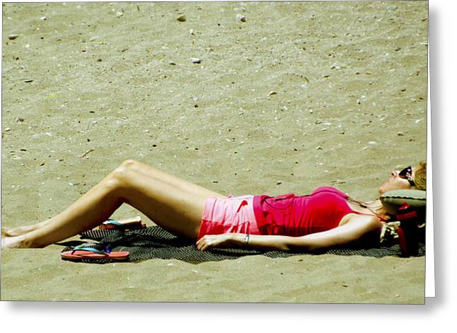 Baseball Photographs Greeting Cards - Asleep At The Beach 2 Greeting Card by Floyd Snyder