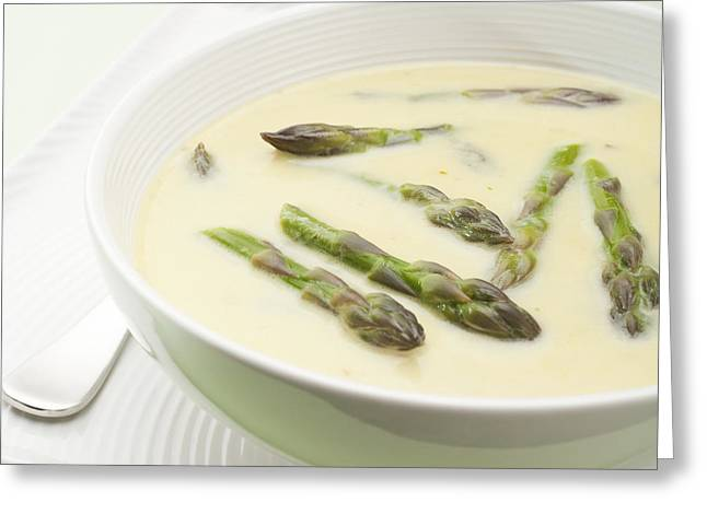Asparagus Soup Greeting Card by Colin and Linda McKie