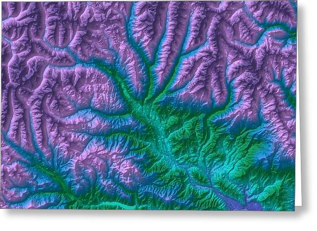 Landform Digital Greeting Cards - Aspen 2 Map Art Greeting Card by Paul Hein