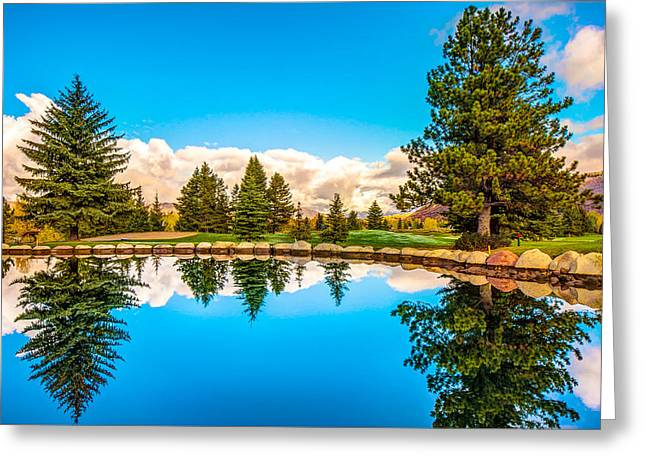 Mountain Greeting Cards - Aspen - Bold and Beautiful Greeting Card by Gregory Ballos