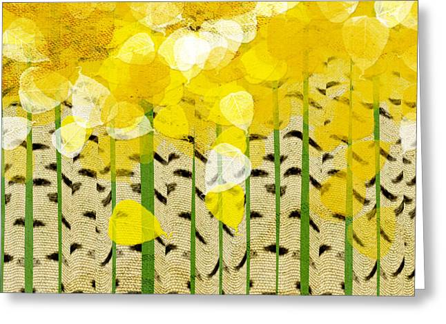 Fine Mixed Media Greeting Cards - Aspen Colorado Abstract Square Greeting Card by Andee Design