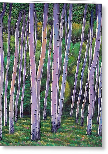 Birch Trees Greeting Cards - Aspen Enclave Greeting Card by Johnathan Harris