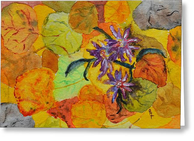 Forest Floor Paintings Greeting Cards - Aspen Forest Floor Greeting Card by Beverley Harper Tinsley