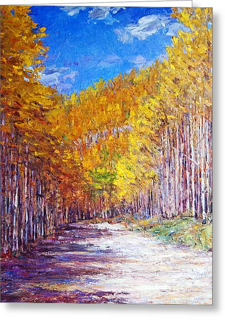 Steven Boone Greeting Cards - Aspen Glory Greeting Card by Steven Boone