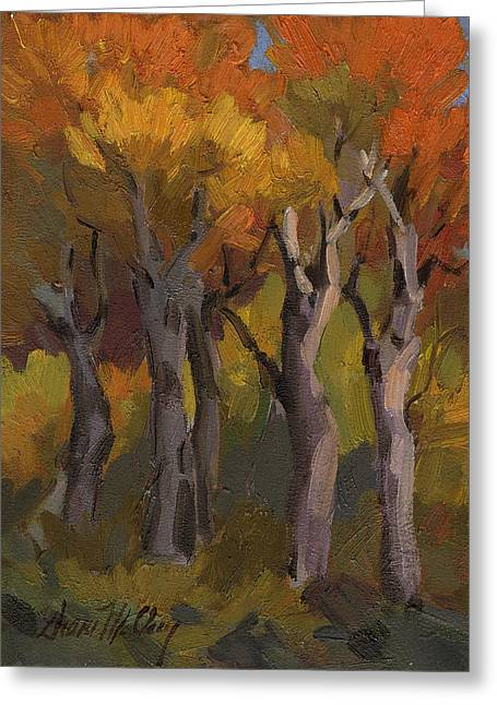 Aspen Grove Greeting Cards - Aspen Glowing Greeting Card by Diane McClary