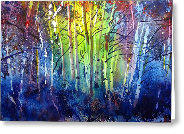 Aspen Grove Greeting Cards - Aspen Grove Greeting Card by Kris Parins