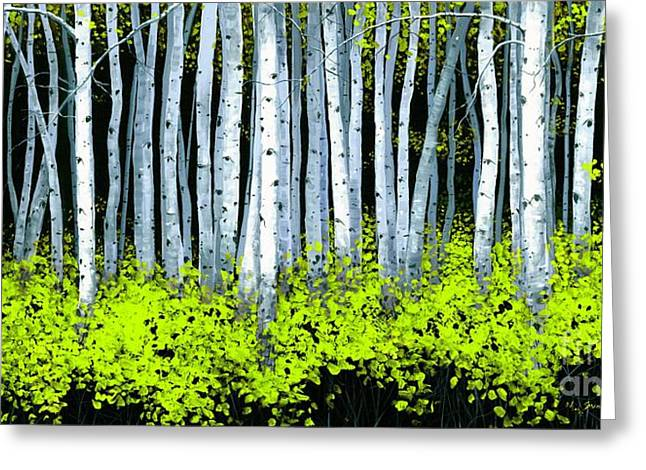 Aspen II Greeting Card by Michael Swanson