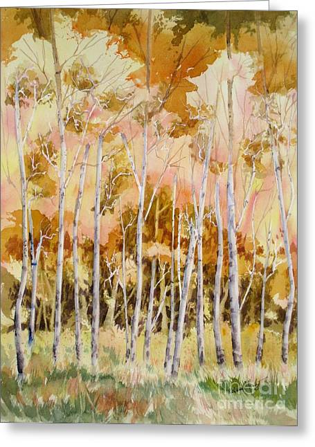 Trembling Greeting Cards - Aspens 2 Greeting Card by Mohamed Hirji