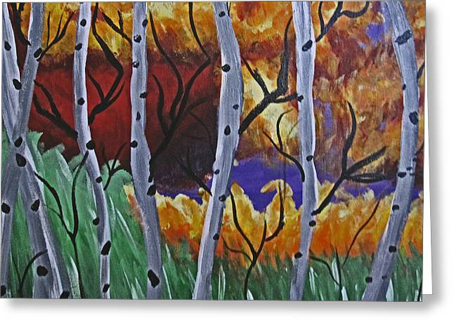 Fort Collins Greeting Cards - Aspens And Wine Greeting Card by Tammy Sutherland