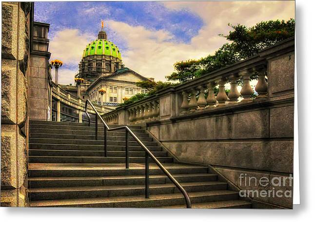 Capitol Digital Greeting Cards - Aspirations Greeting Card by Lois Bryan