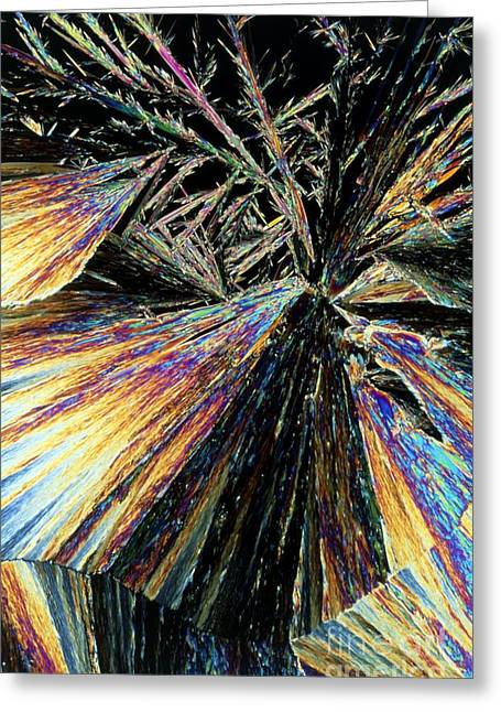 Aspirin Greeting Cards - Aspirin Drug Crystal Greeting Card by Sidney Moulds