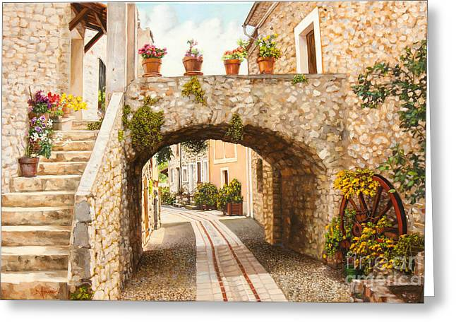 Provence Village Greeting Cards - Aspremont village In Provence Greeting Card by Dominique Amendola